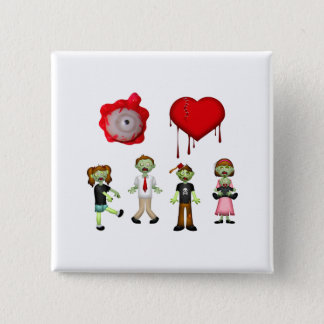 Eye Heart Zombies Pinback Button