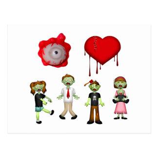 Eye Heart Zombies Postcard