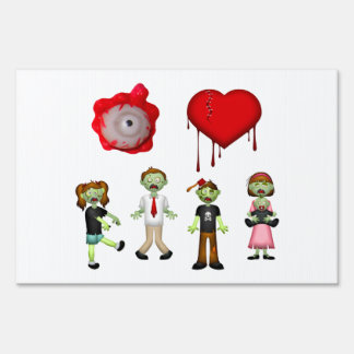 Eye Heart Zombies Sign