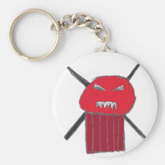 Eye Hurt Guy Keychain