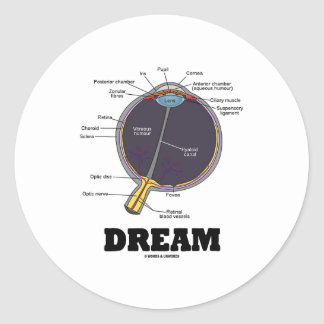Eye (I) Dream (Anatomical Human Eyeball) Round Stickers