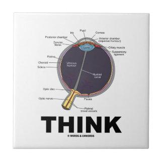Eye (I) Think (Anatomical Humor) Small Square Tile