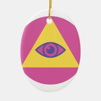 Eye In Pyramid Ceramic Ornament