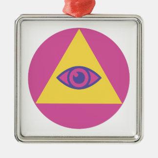 Eye In Pyramid Metal Ornament