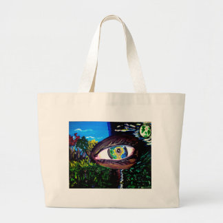 Eye In The Middle of the Forest Large Tote Bag