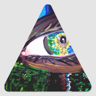 Eye In The Middle of the Forest Triangle Sticker