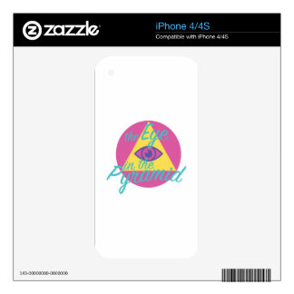 Eye In The Pyramid iPhone 4S Decals