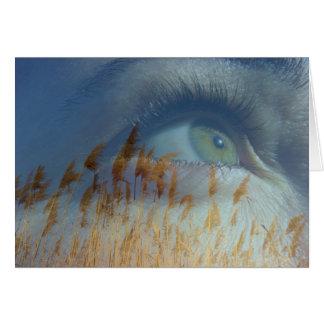 Eye in the sky greeting card