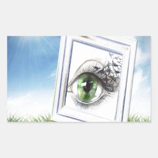 Eye in the Sky Rectangular Sticker