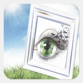 Eye in the Sky Square Sticker
