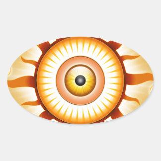 Eye In The Sky Oval Stickers