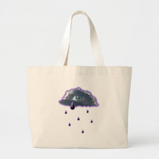 eye in the sky with tears of rain canvas bags
