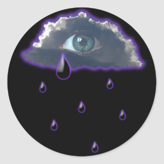 eye in the sky with tears of rain stickers