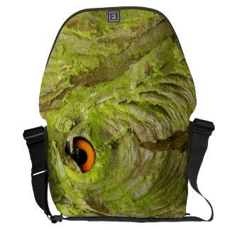 Eye in the Tree Bark Messenger Bag