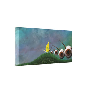 Eye Invaders Stretched Canvas Prints