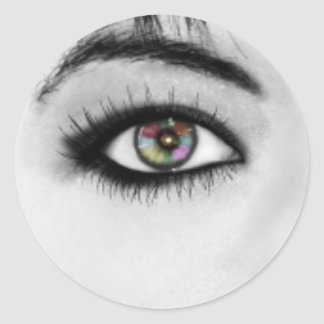 Eye is The Window To Your Soul Classic Round Sticker