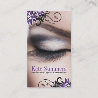 eyelash extensions business card template zazzlecom - Eyelash Extension Business Cards