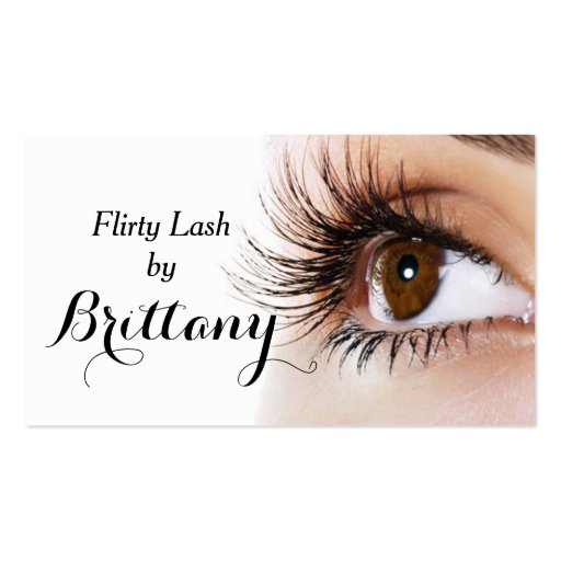 eye lashes extensions makeup artist cosmetologist business card template