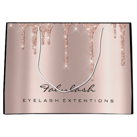 Eye Lashes Sparkly Drips Makeup  Beauty Bridal Large Gift Bag