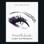 """Eye long eyelashes Lash extension icon Flyer<br><div class=""""desc"""">Drawing of a female eye with long eyelashes and purple eyeshadow. Perfect for your company promotion. Suitable for make-up artists,  lash extension,   beauticians,  stylists,  spa salon ,  hair and beauty salon or model agency. Customisable.</div>"""