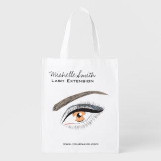 Eye long eyelashes Lash extension icon Grocery Bag