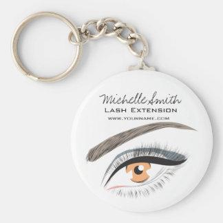 Eye long eyelashes Lash extension icon Keychain