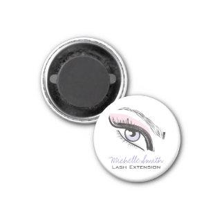 Eye long eyelashes Lash extension icon Magnet