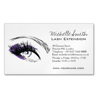 Eye long eyelashes Lash extension icon Magnetic Business Card
