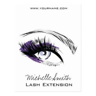 Eye long eyelashes Lash extension icon Postcard