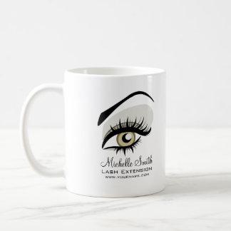 Eye long lashes Lash Extension company branding Classic White Coffee Mug