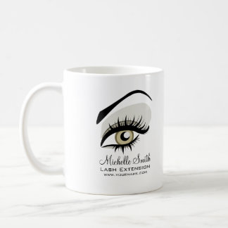 Eye long lashes Lash Extension company branding Coffee Mug