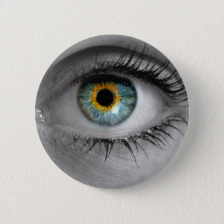 Eye looks to viewer concept macro button