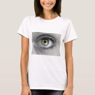 Eye looks to viewer concept macro T-Shirt