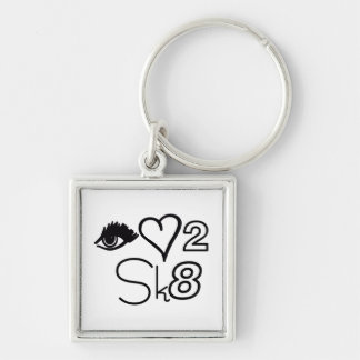 EYE LOVE 2 SKATE KEYCHAIN
