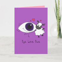 Eye Love Ewe - Sheep Valentine's Day Greeting Card