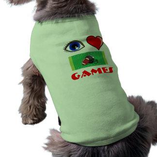 Eye Love Football Games T 4 Man s Best Friend Dog T-shirt