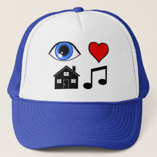 Eye Love House Music Trucker Hat