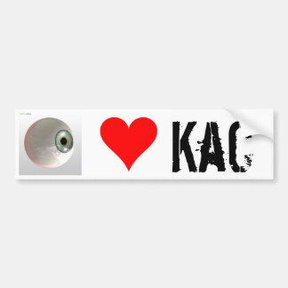 Eye Love KaC Bump Car Bumper Sticker