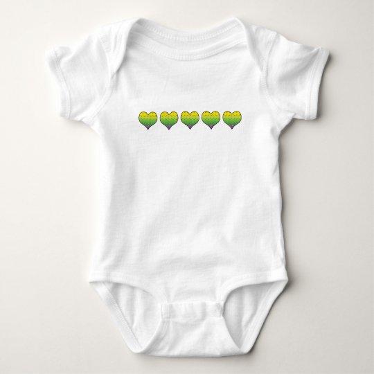 Eye Love Mardi Gras Baby Bodysuit