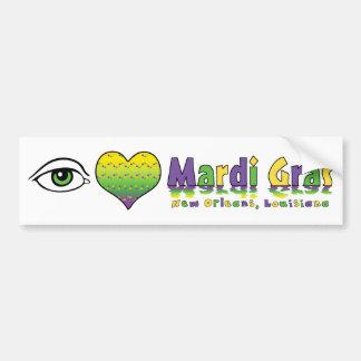 Eye Love Mardi Gras Bumper Sticker