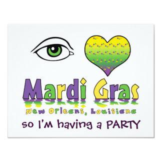 Eye Love Mardi Gras Card