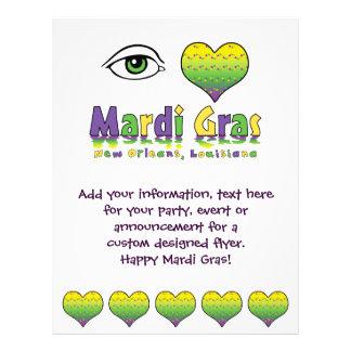 Eye Love Mardi Gras Custom Flyer