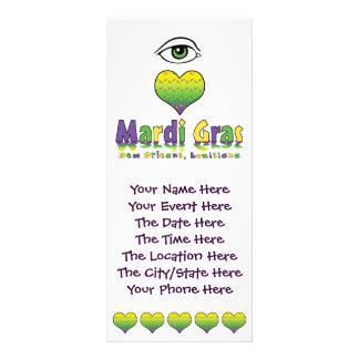Eye Love Mardi Gras Rack Card Template