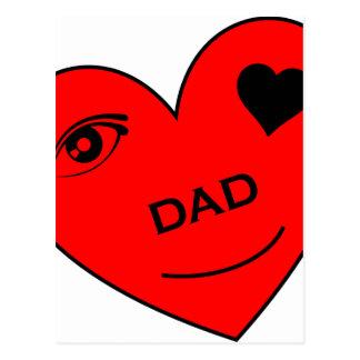 Eye Love My Dad Postcard
