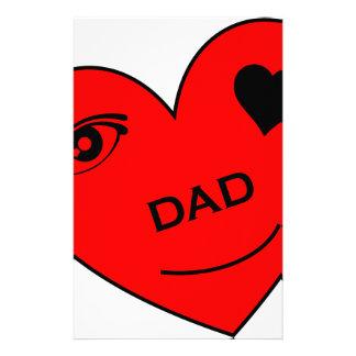 Eye Love My Dad Stationery