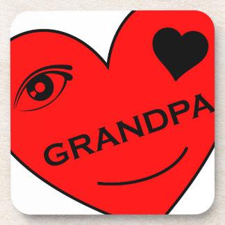 Eye Love My Grandpa Beverage Coaster