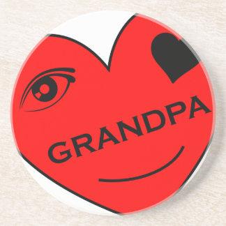 Eye Love My Grandpa Drink Coaster