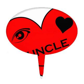 Eye Love My Uncle Cake Topper
