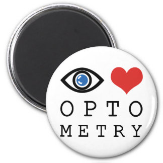 Eye Love Optometry 2 Inch Round Magnet