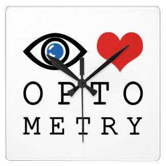 Eye Love Optometry Square Wall Clock